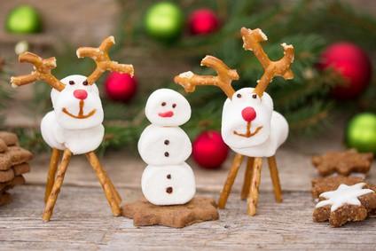 Weihnachtsfiguren aus Marshmallow